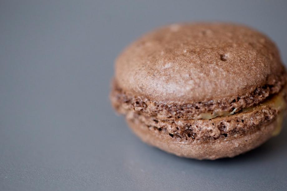 Macarons de Chocolate con CarameloSalado