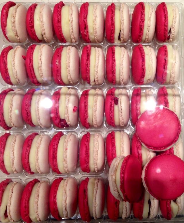 Macarons de Ispahan y yoghurt