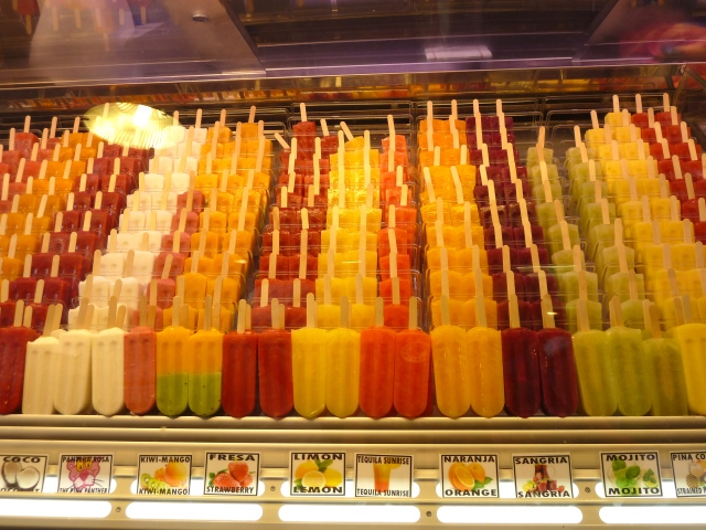 paletas de todos los sabores y colores